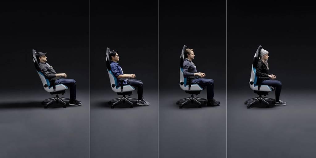 Sitzpositionen des RECARO Exo Gaming Stuhls