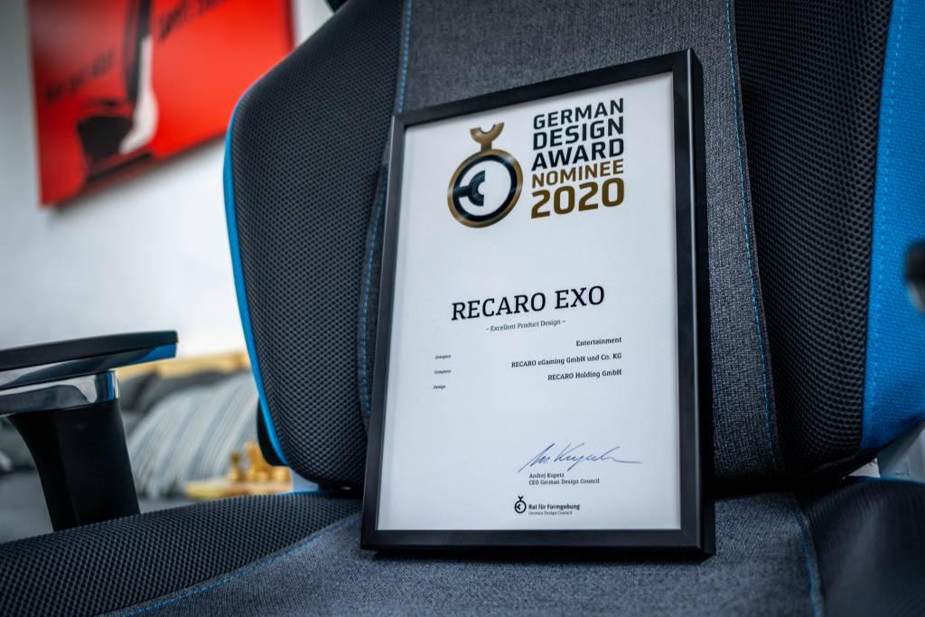 German Design Award Nominee 2020 für den RECARO Exo