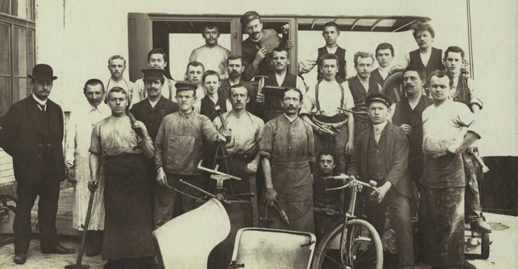 Das RECARO Werksteam im Jahr 1908