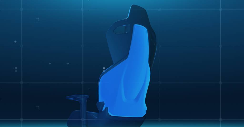 Das Rückenlehnen Design des RECARO EXO Gaming Seats dient dazu den Spieler von der Umgebung abzuschirmen, damit er sich voll auf das Game konzentrieren kann.