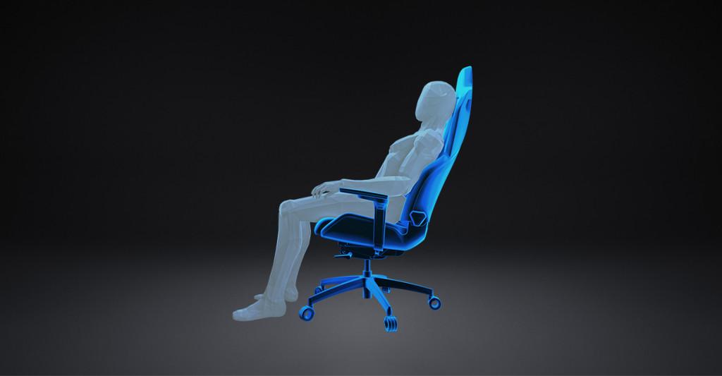 """Darstellung der """"Core Relax""""-Position beim RECARO Exo Gaming Sitz."""