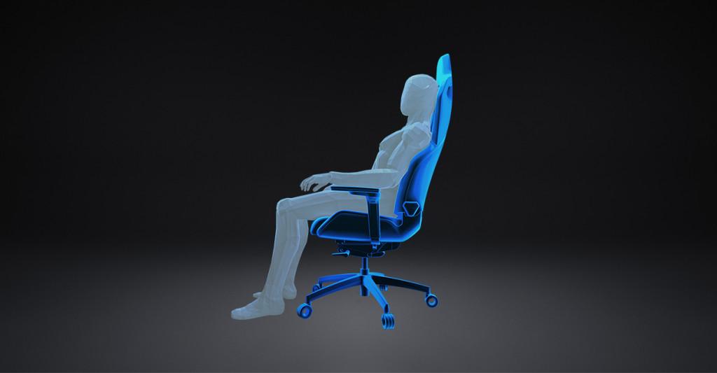 "Darstellung der ""Core Recharge""-Position beim RECARO Exo Gaming Seat."