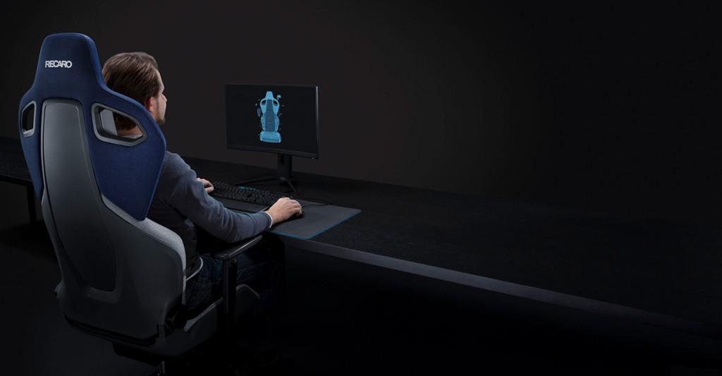 Gaming-Setup mit dem RECARO Exo Gaming Seat.
