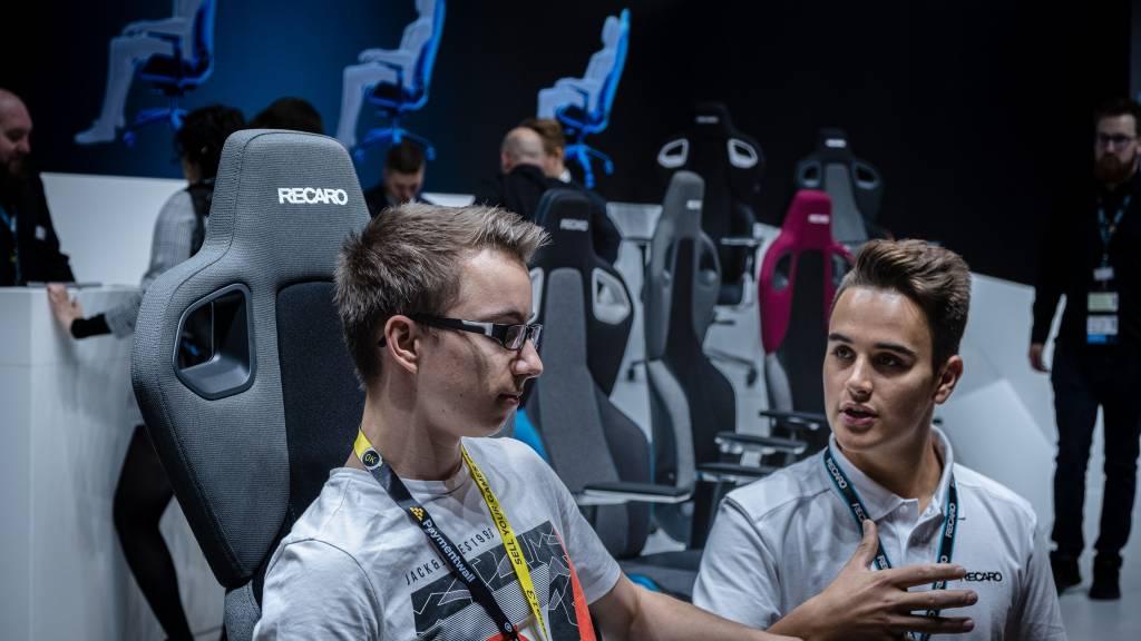 RECARO Stand auf der Gamescom 2019.